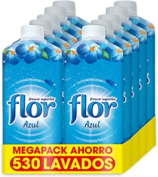 Flor Fragancia Azul - Suavizante Concentrado para la Ropa, 500 ...