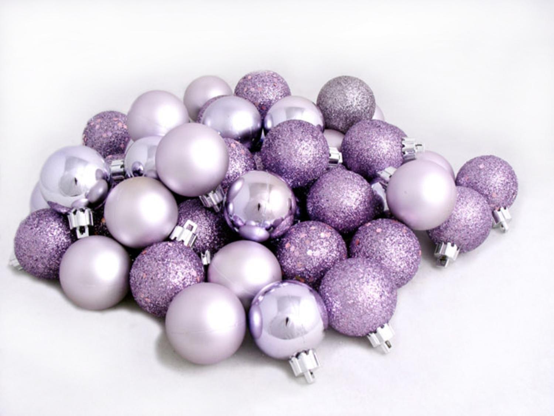 amazoncom 96ct purple lavender shatterproof 4 finish christmas ball ornaments 15 40mm home kitchen - Purple Christmas Tree Ornaments