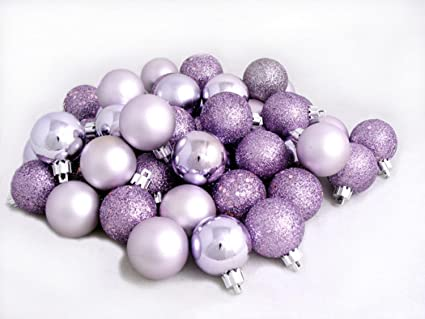 "96ct Purple Lavender Shatterproof 4-Finish Christmas Ball Ornaments  1.5"" ... - Amazon.com: 96ct Purple Lavender Shatterproof 4-Finish Christmas"