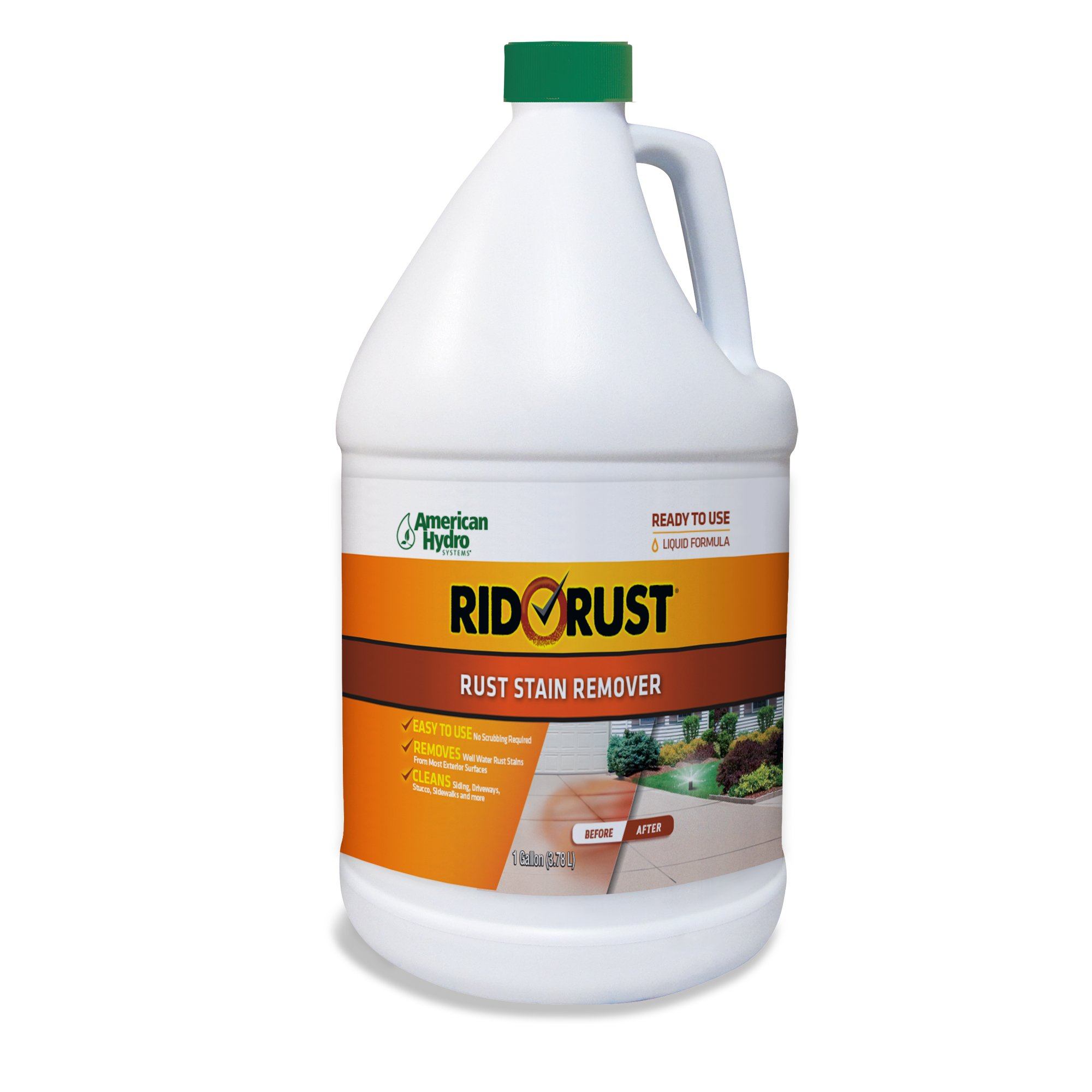 American Hydro Systems 2662 Rid O' Rust Liquid Rust Stain Remover, 1-Gallon, 4-Pack