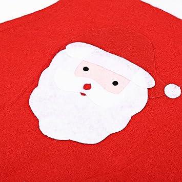 SHUFAGN,Papá Noel, cocina, telas no tejidas, delantal, cena de navidad, decoración para fiestas(color:ROJO): Amazon.es: Hogar