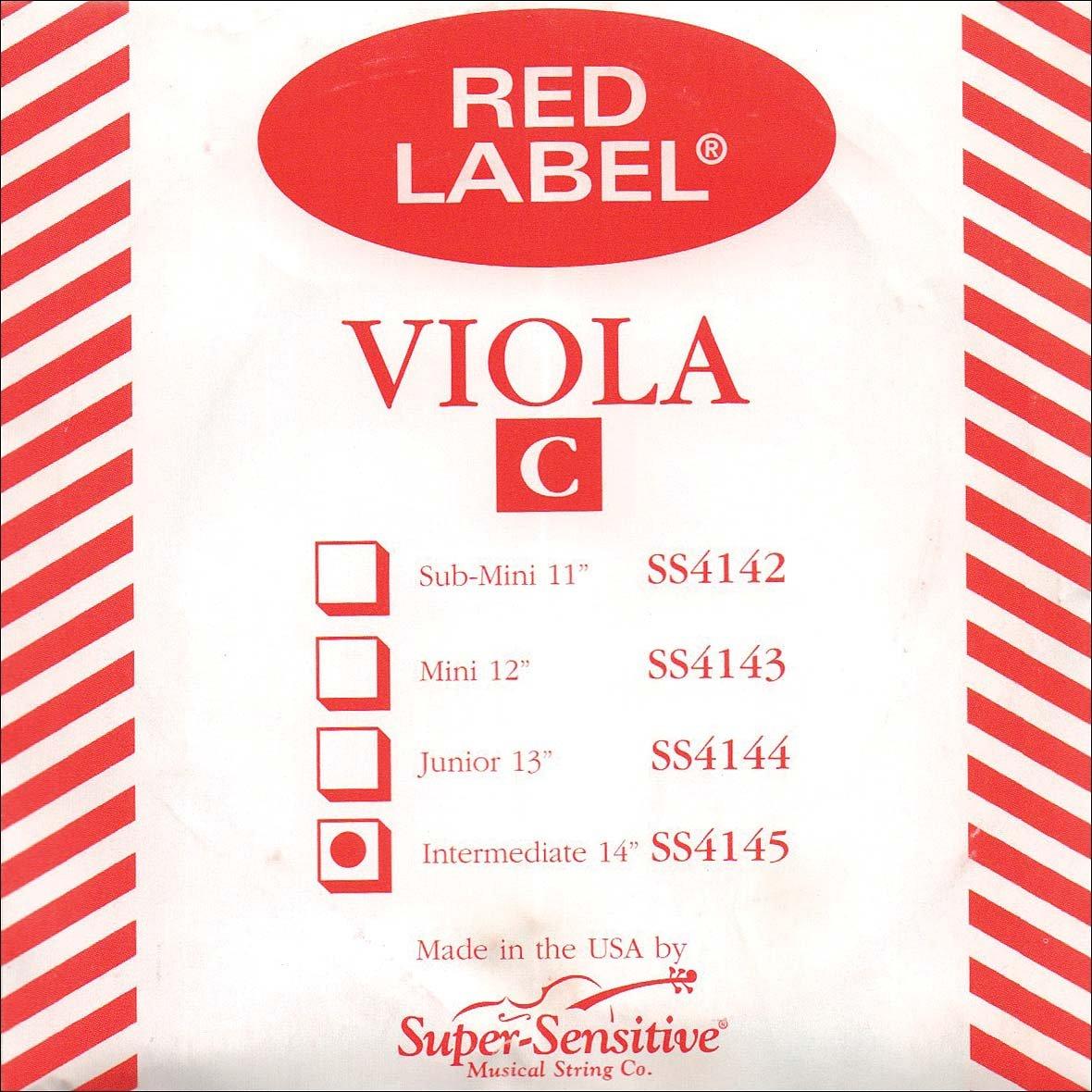 Supersens 14145 Red Label Viola C String, 14-Inch Intermediate Size