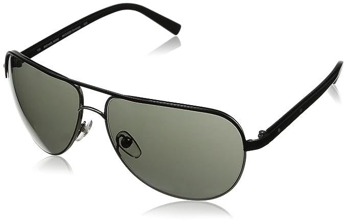 Michael Kors - Gafas de sol Aviador MKS300M para mujer, Black frame / Black lens