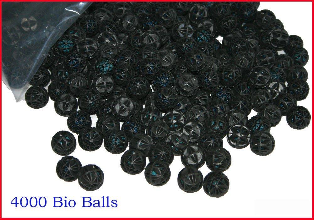 Aquapapa SB4000 1'' Bulk Biochemical Bio Balls with Inside Sponge Design Filter Media for Aquarium Fish Pond Fountain Waterfall Filtration, 4000 Count by Aquapapa