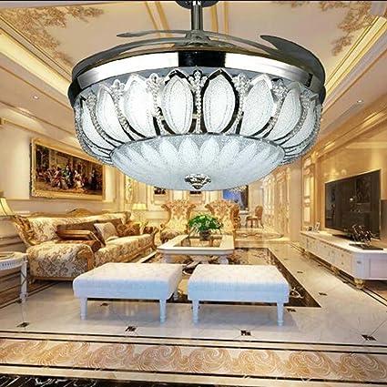 tiptonlight 42 inch chrome new large ceiling fan chandelier living