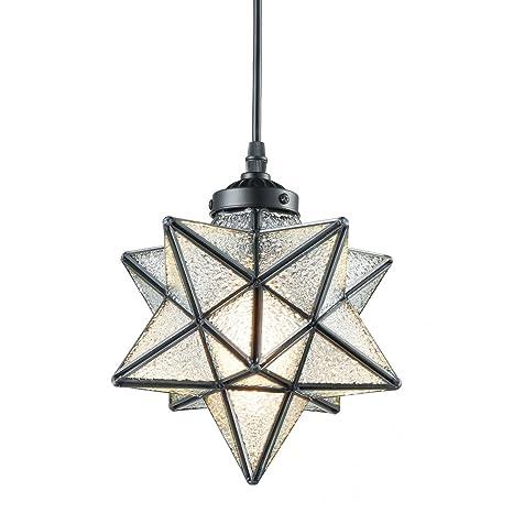 Traditional Moravian Star Ceiling Pendant Light - Mini 7 5/8 ...