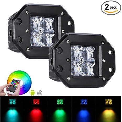 Amazon.com: Samlight 2 piezas 20 W RGB 5D SPOT luz de ...