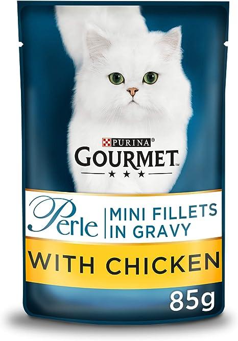 Purina Gourmet Perle húmedo Cat Food, Mini Filetes en salsa ...