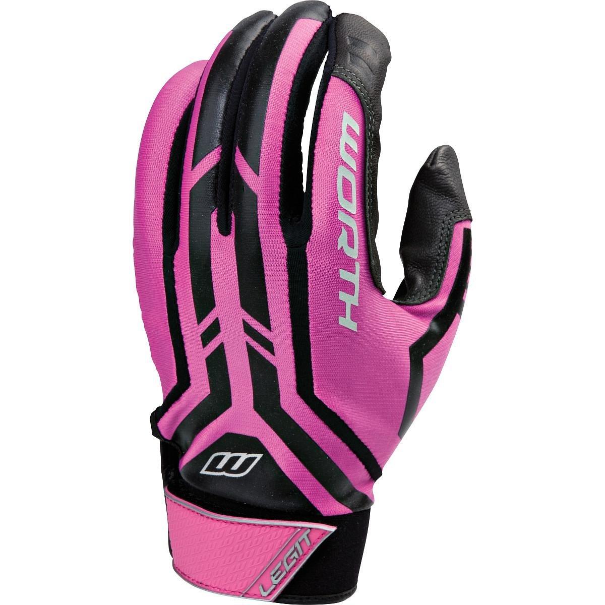 Worth Legit Slowpitchバッティング手袋、1ペア B00NNWBDNA Medium|ピンク ピンク Medium