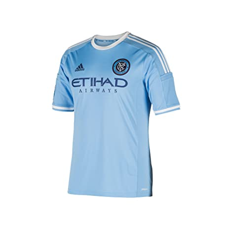 the latest bc0c2 bd93e MLS New York City FC Boys Replica Short Sleeve Team Jersey, Blue, X-