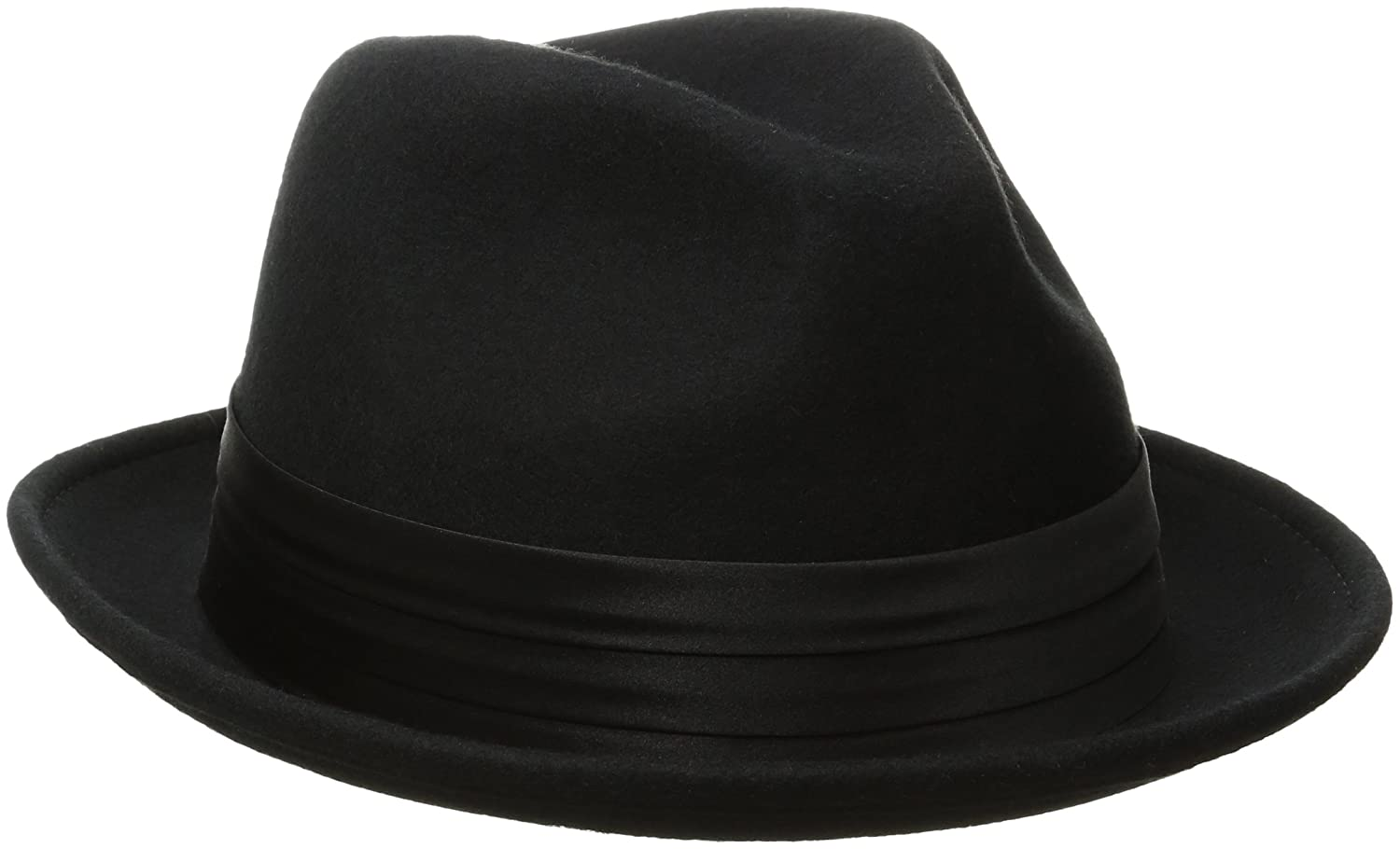 Stacy Adams Men s Crushable Wool Felt Snap Brim Fedora Hat at Amazon Men s  Clothing store  b5eb90a8a35c