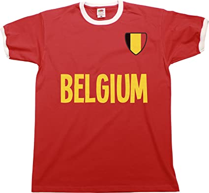 20fda5894f3 Mens Belgium World Cup 2018 T-Shirt Country Name Ringer Retro Sports  Football Patriotic: Amazon.co.uk: Clothing