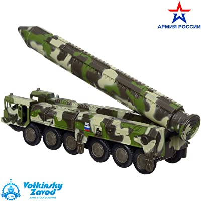 Diecast Model Metal Toy Intercontinental Ballistic Missile RT-2PM Topol SS-25 Sickle: Toys & Games [5Bkhe1905878]