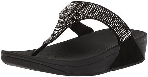 706e052173ee Fit Flop Women s Slinky Rokkit Toe Post Black Leather Fashion ...