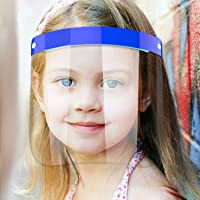 5 Pack Kids Face Shield, BLScode Face Protection Shields for Child, Clear Face Shield Visor with Elastic Band for Face…