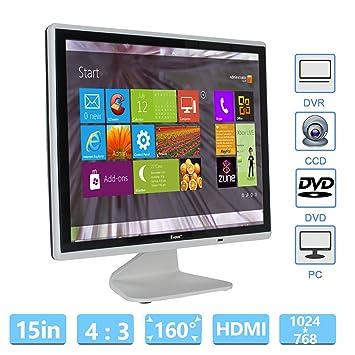15 Inch CCTV Monitor LCD HD 1024x768 Resolution Aspect Ratio 4:3