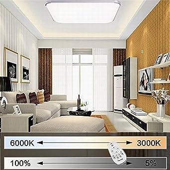 EtimeR 64W LED Deckenleuchte Dimmbar Deckenlampe Modern Wohnzimmer Lampe Schlafzimmer Kche Panel Leuchte 2700