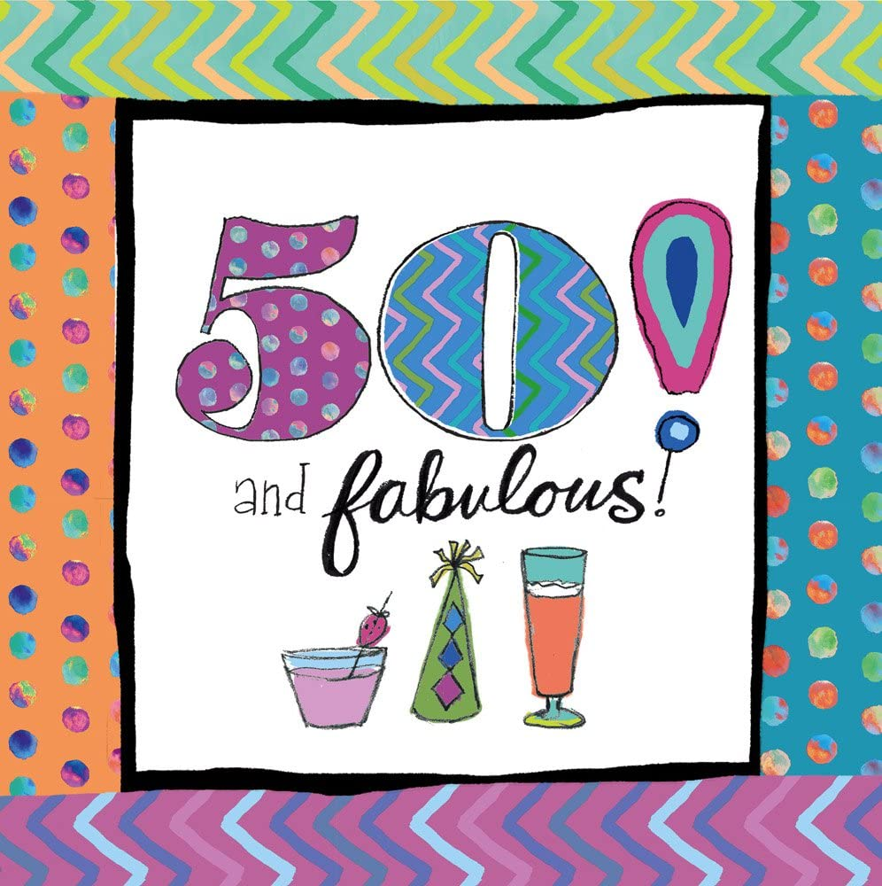 Cypress Home 4NC8150 20 Piece 50th Birthday Paper Cocktail Napkins Multicolored