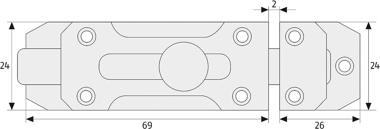 Abus SRDR80 N B Cerrojo de aleaci/ón de zinc acabado en niquel mate 80mm blister