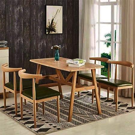 Dlibig Table De Cuisine Et Corne 4 Chaise Combinaison Bois Massif