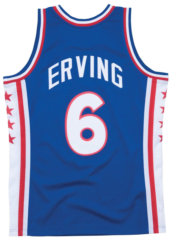 Amazon.com   Julius Erving Philadelphia 76ers Mitchell   Ness Swingman  Jersey Blue   Sports   Outdoors 0fe2e920a