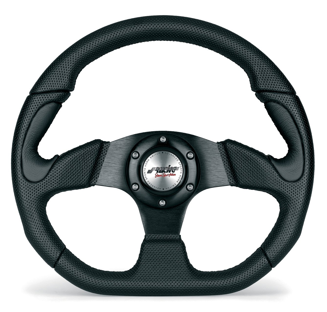 Simoni Racing X2330PUN/P Universal Steering Wheel, Black