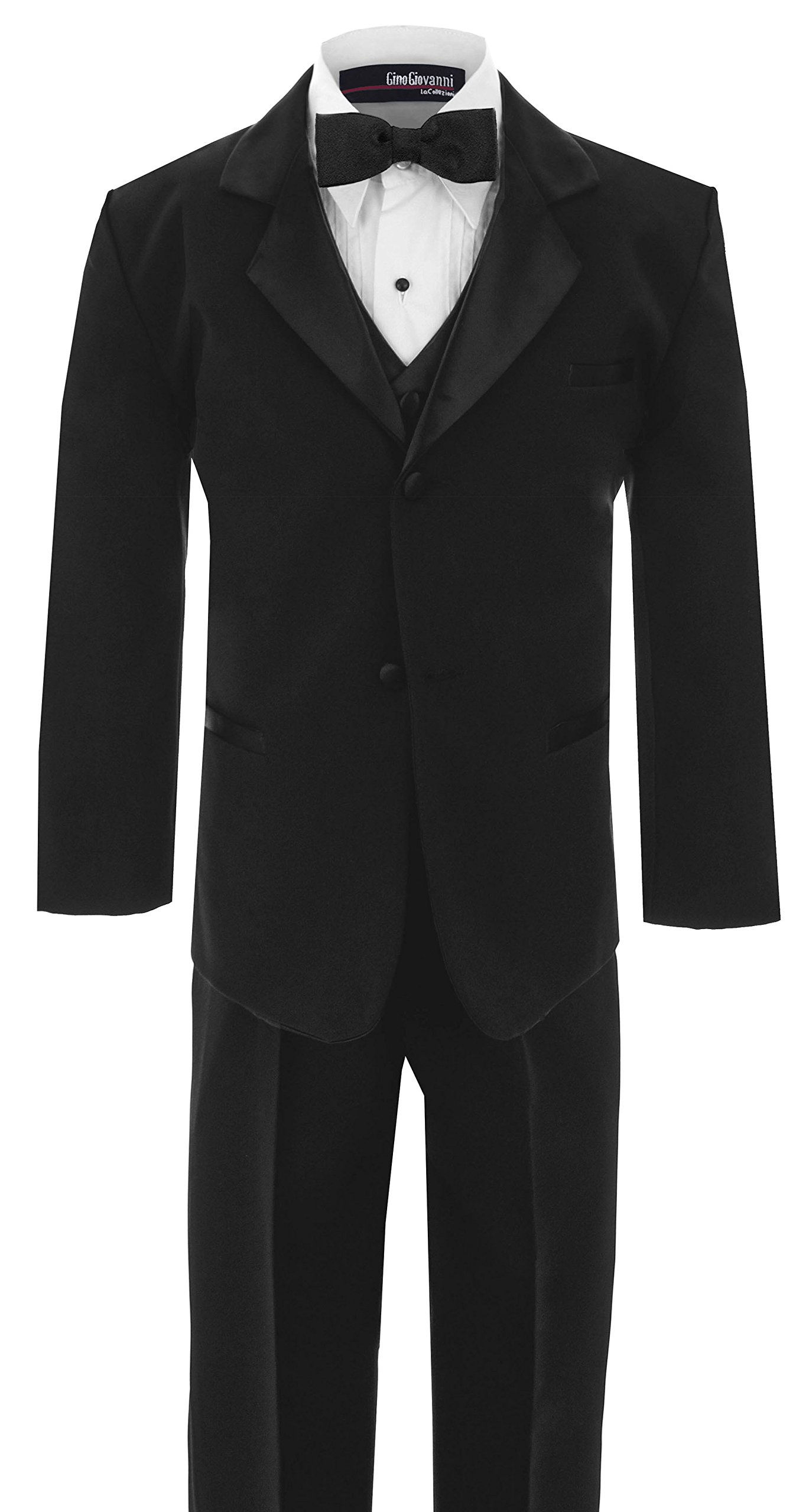 Big Boy's Usher Tuxedo Suit No Tail G210 (8, Black)