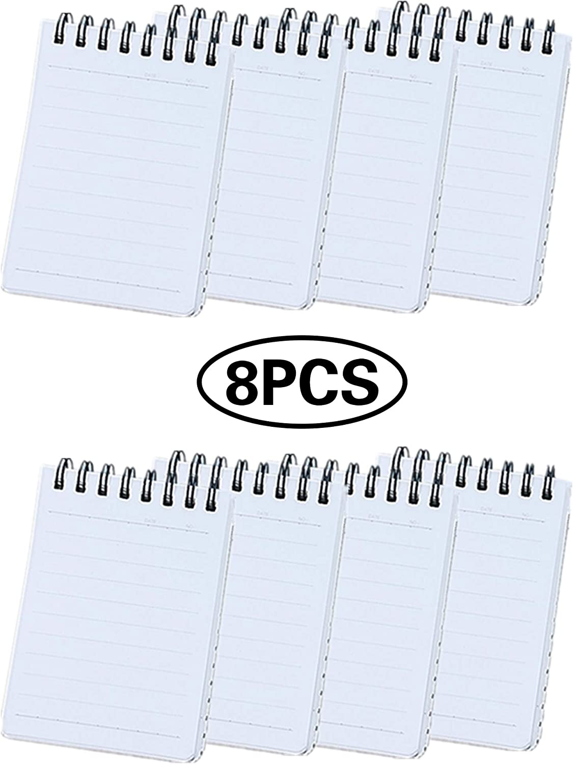 640 Pages Index Card, 3 x 4 Inch White Learning Card Note Cards 8 Pack of White Paper Ring Index Cards Bulk Index Cards for Home School Office