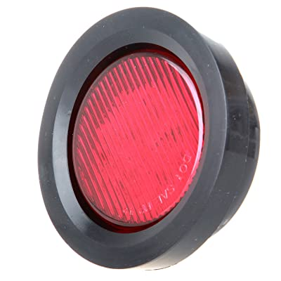 "cciyu Side Marker Lights 10 Pack Red 2.5"" Round Truck Trailer Clearance Marker Led Round Side Marker Light w/Grommets 2pcs White Side Marker Lights: Automotive"