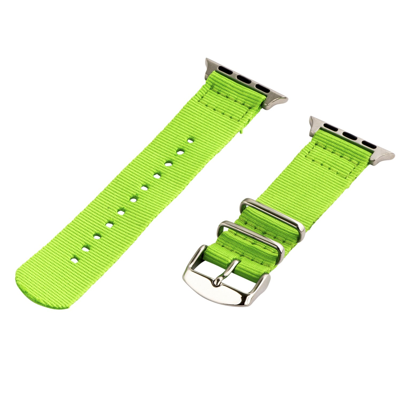 Clockwork Synergy – 2ピースクラシックNATOナイロンフラグ用時計バンドApple Neon Green Band / Steel Hardware Neon Green Band / Steel Hardware B01DYJU9ZO