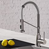 Kraus KPF-1610SS Bolden 18-Inch Commercial Kitchen Faucet with Dual Function Pull-Down Sprayhead in All-Brite Finish…
