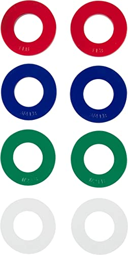 Trademark Innovations Exercise Plates Fractional Weight Plates – 2 Each of 1 4, 1 2, 3 4, 1 Lb. Total Set of 8 by 1 4-1 lbs