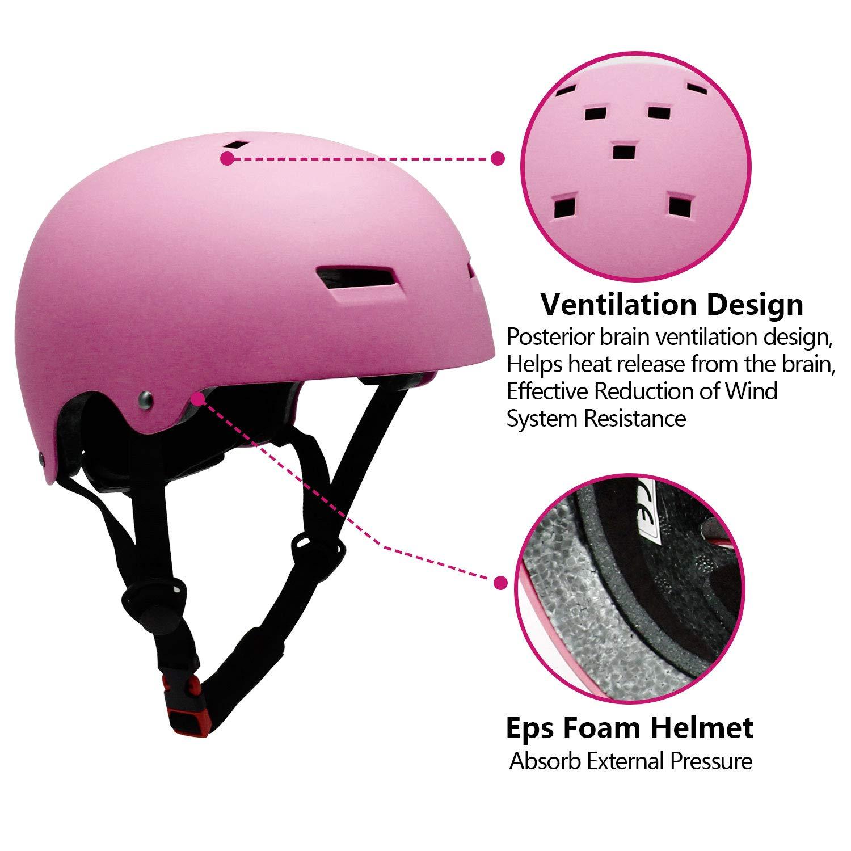 Ventilation Adjustable Helmet for 3-16-year-old Kids Skating Helmet for Children and Adolescents Outdoor Sports Helmet Kids Helmets 7 Pcs Sports Protective Equipments Lohesozl Kids Bicycle Helmets