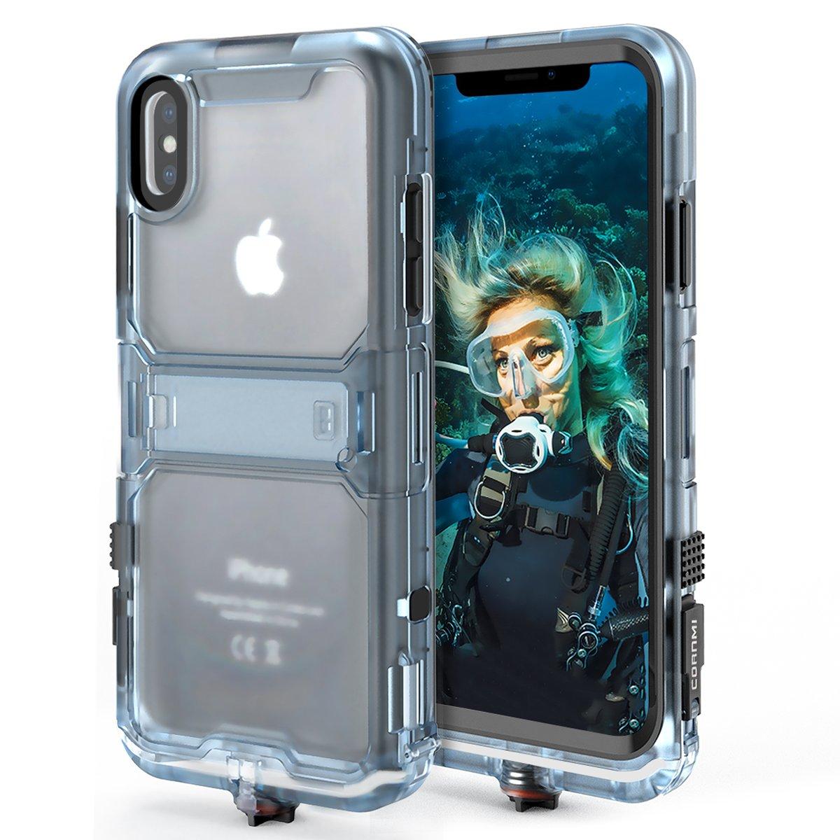 Cornmi iPhone X Waterproof Case, Full Sealed IP68 Certified Waterproof Shockproof Snowproof Protection Underwater Case for iPhone X 5.2inch (Black) by Cornmi (Image #2)