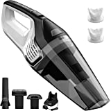 Homasy Handheld Vacuum Cordless, Rechargeable Powerful Cyclonic Suction 14.8V Lithium with Quick Charge, Wet Dry Cleaner for Pet Hair, Dust, Gravel Cleaning, Black