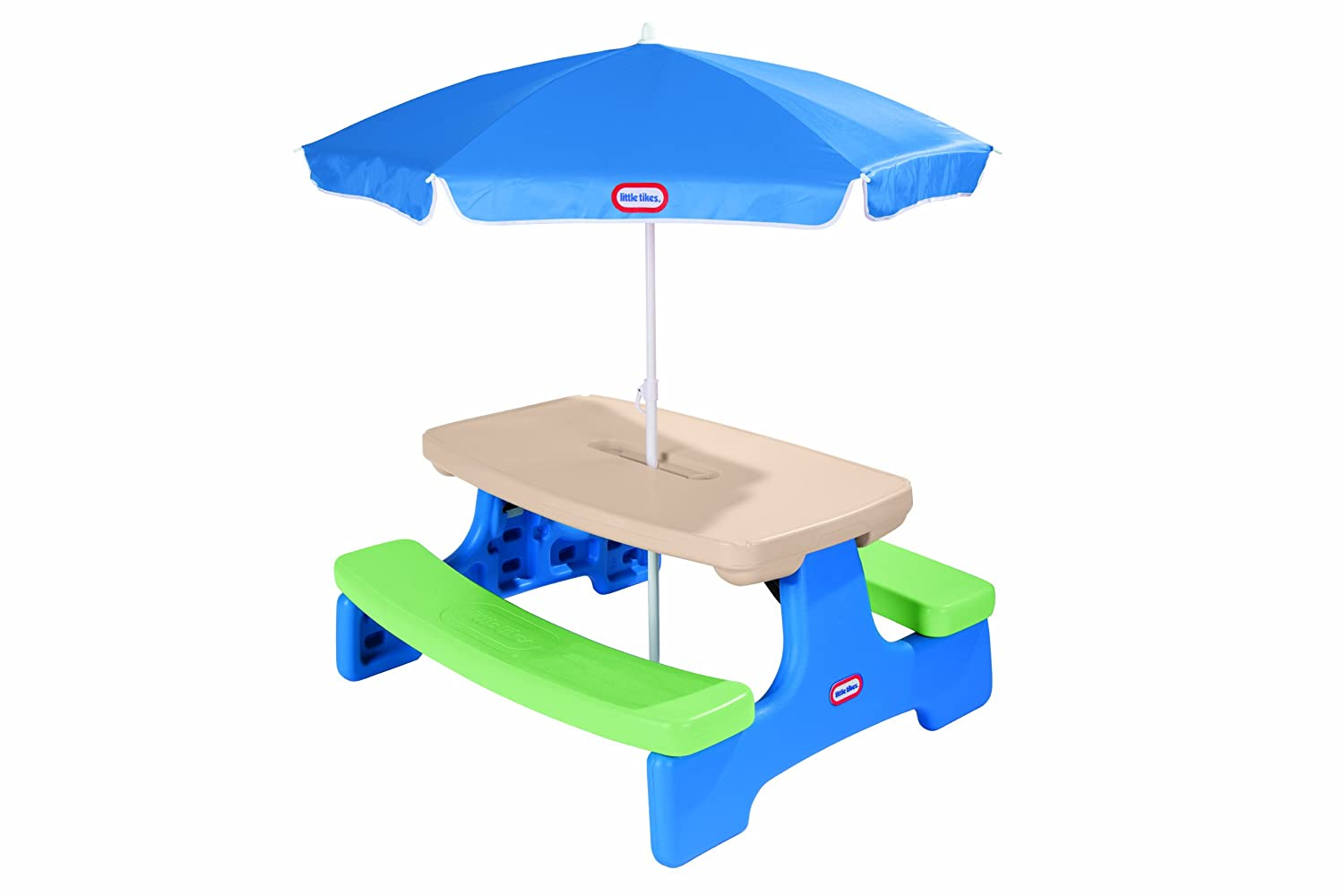 Kids picnic table - Little Tikes Easy Store Picnic Table With Umbrella