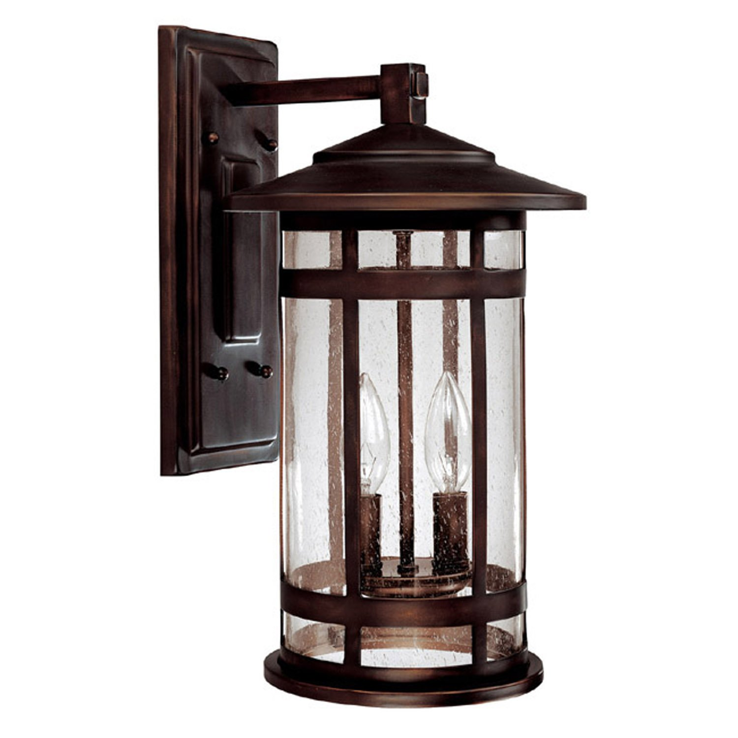 Capital Lighting 9952BB Outdoor Wall Fixture with Seeded Glass