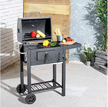 Flame Master Bbq.Flame Master Charcoal Trolley Bbq Garden Grill Amazon Co Uk Garden