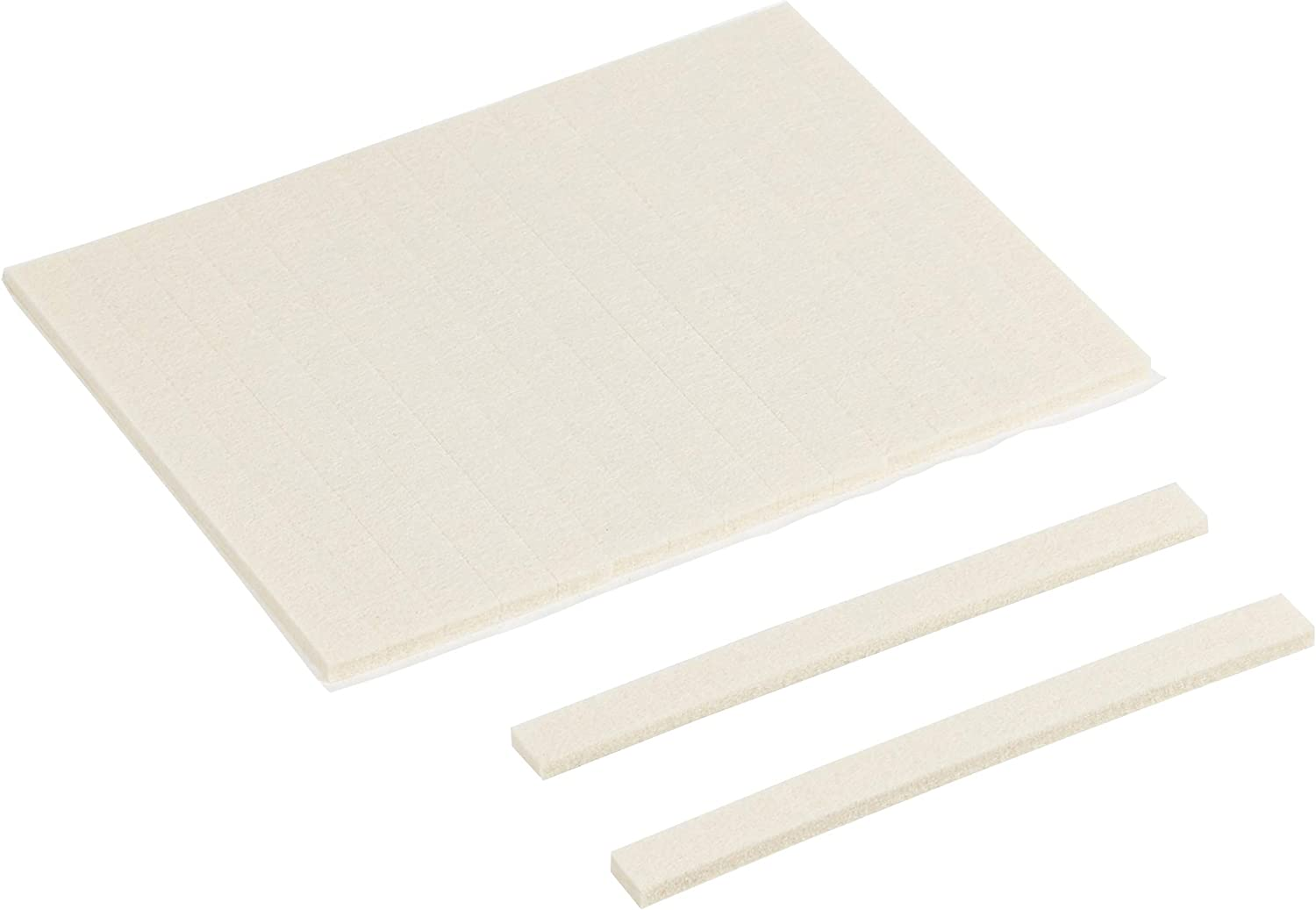 AmazonBasics Felt Furniture Pads - 1/2'' x 6'' Square, Beige, 60-Pack