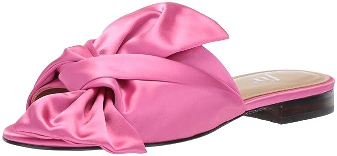 8483621bd271b Amazon.com  The Fix Women s Naomi Oversized Bow Slide Sandal Flat ...