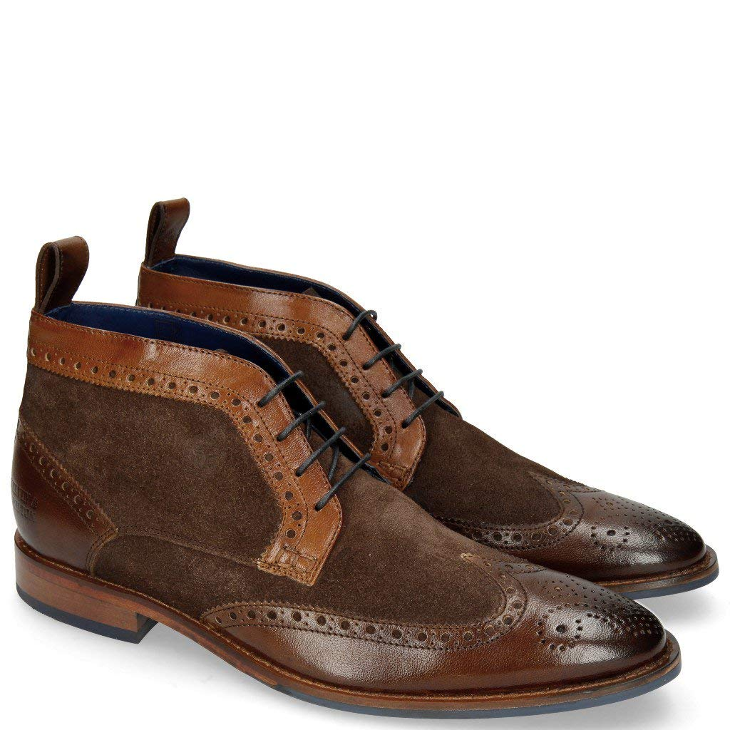 MELVIN & HAMILTON MH HAND MADE SHOES OF CLASS Victor 7 Rio Chocolate Mid Brown Suede