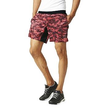 adidas Herren Laufthose Kanoi Run Graphic 7 Zoll Shorts M, rot, S, AH9947