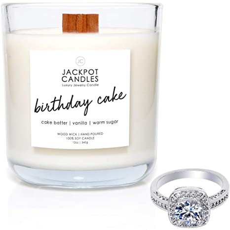 Birthday Cake Candle With Ring Inside Surprise Jewelry Valued At 15 To 5000 Size 6 Amazonca