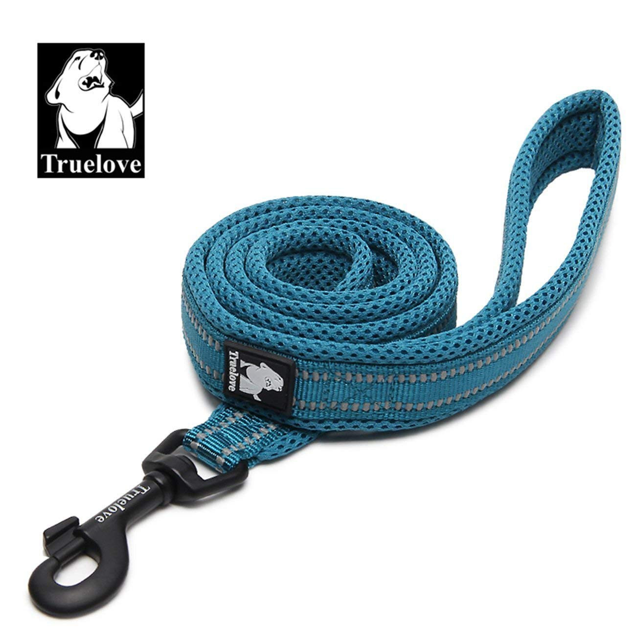 bluee Medium bluee Medium Dog Leash Puppy Walking Lead Pet Chain Padded Reflective Night Safe Rope Length 110cm (bluee,M)
