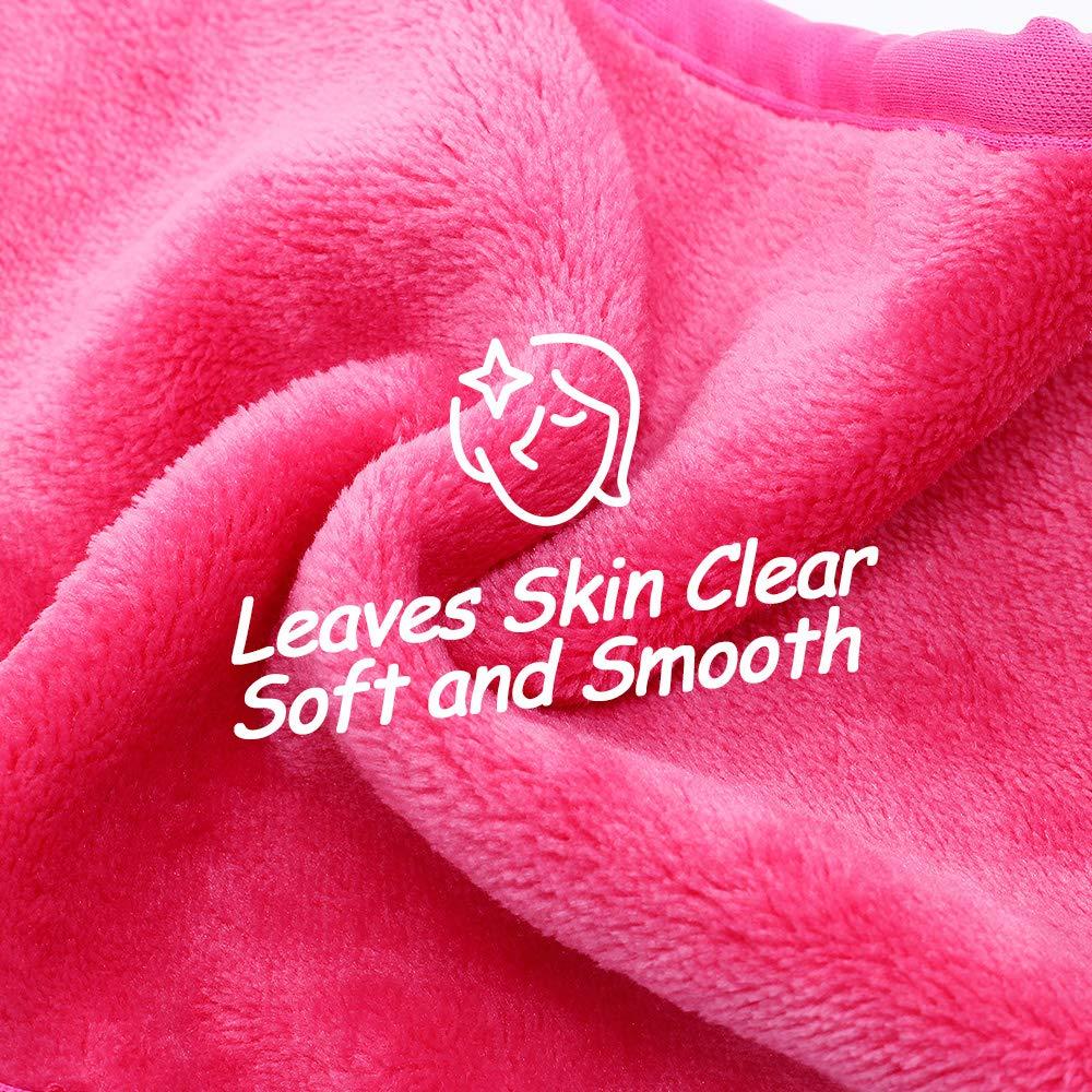 Makeup Remover Toalla de tela,toalla de limpieza facial reutilizable,sin Productos químicos, para Quitar Maquillaje instantáneamente, Solo con Agua