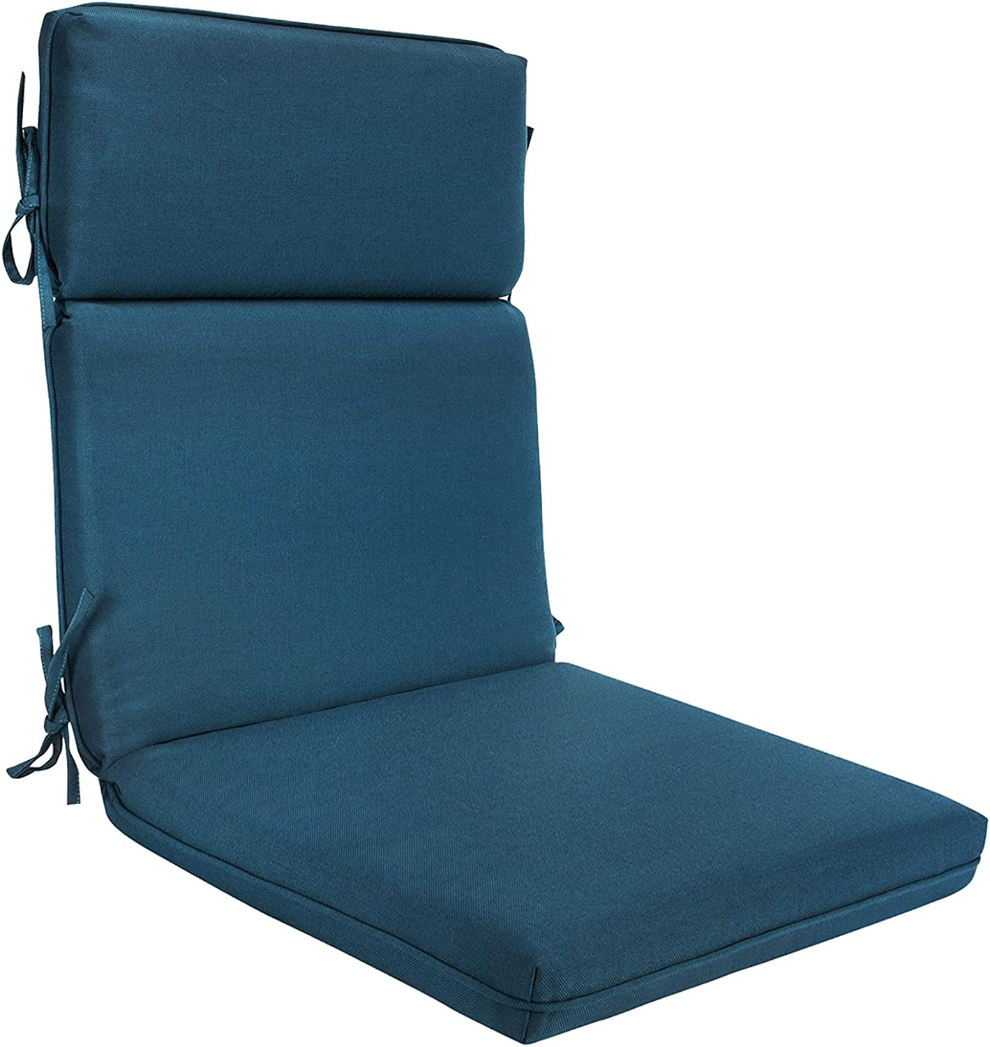 BOSSIMA Outdoor Indoor High Back Chair Cushions Comfort Replacement Patio Seating Cushions Teal Blue