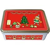 """Boite à biscuits métal """"Noël"""" rouge - fabriqué en France - créateur Kalam"""