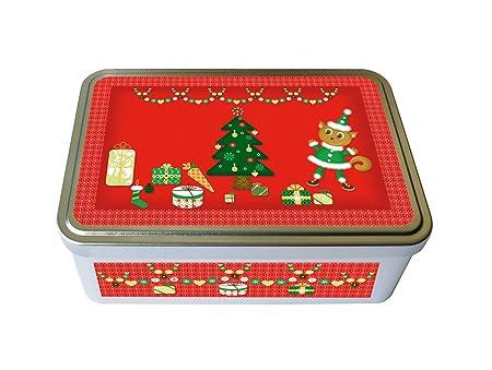 Kalam - Caja metálica decorada para pasteles, cuadrada, diseño ...