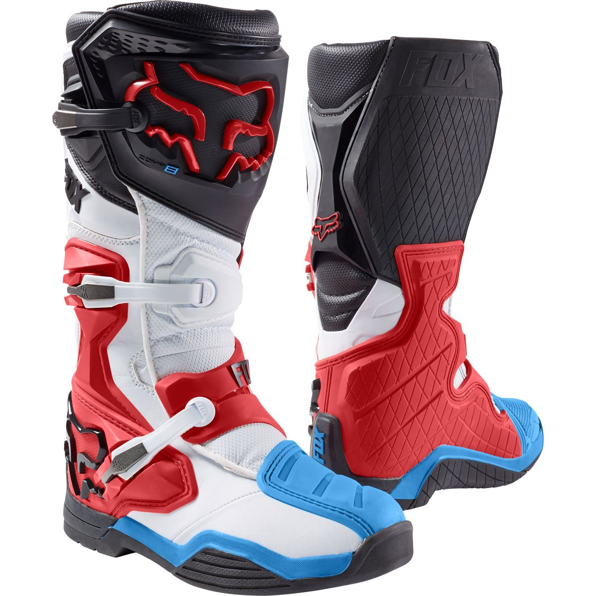 Fox Racing Comp 8 Men's Off-Road Motorcycle Boots - Red/White / Size 10