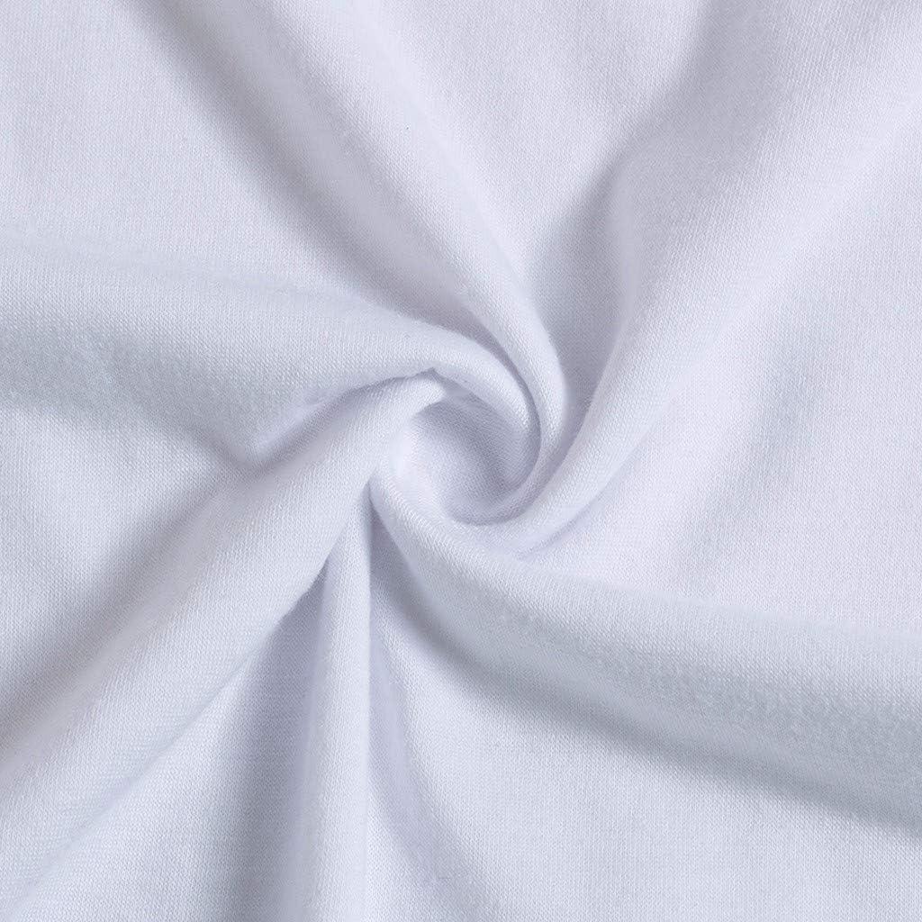Iusun Womens Maternity Tops Cartoon Animal Printed Short Sleeve Plus Size White T-Shirt Mom Nursing Breastfeeding Pregnants Summer Cloth